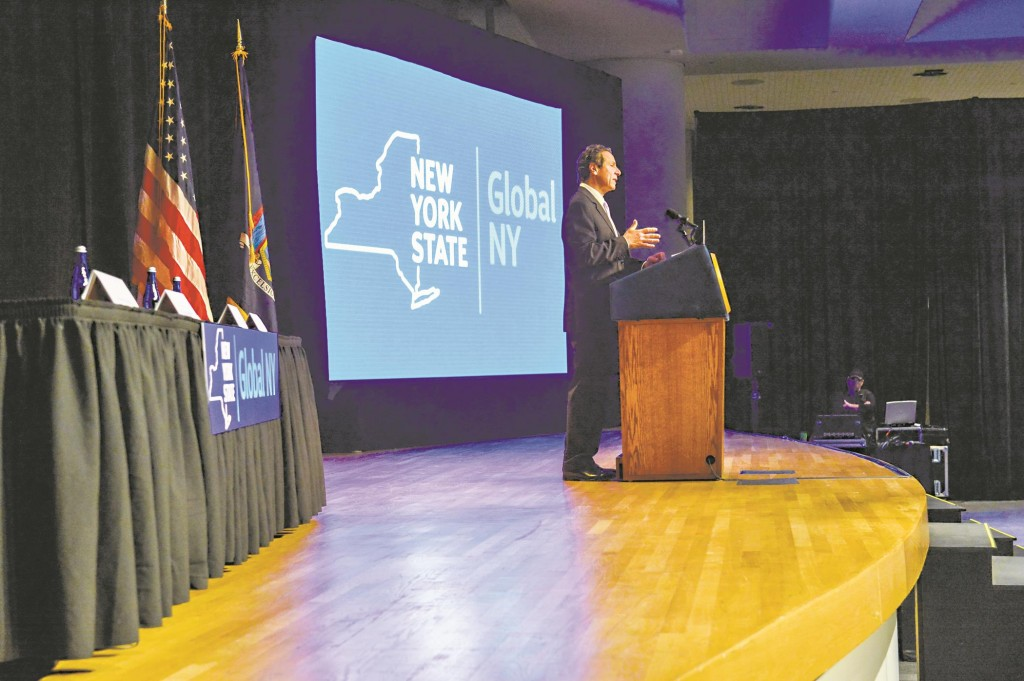 Gov. Andrew Cuomo on Oct. 7 at a trade convention at the Jacob K. Javits Convention Center in New York City. (Office of the Governor)