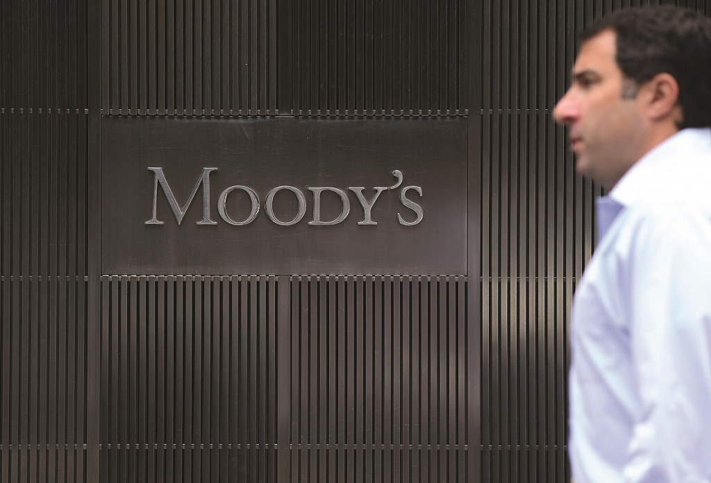 Moody's rating agency company headquarters in New York. (EMMANUEL DUNAND/AFP/GettyImages)
