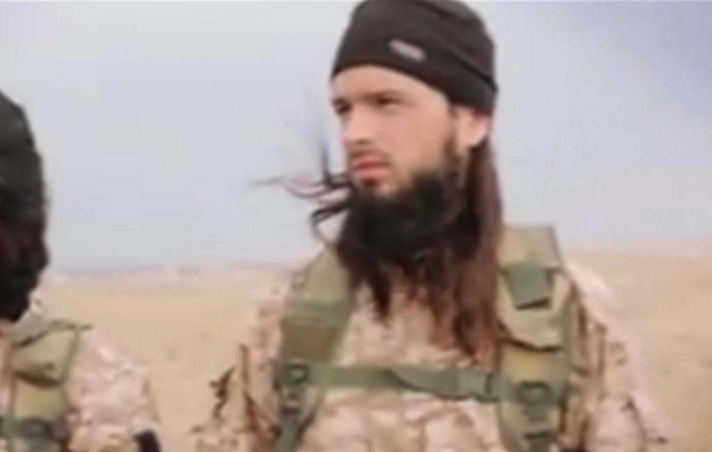 This still image taken from an undated video released online by the Islamic State group shows a terrorist that the French government say is Frenchman Maxime Hauchard. (AP Photo)
