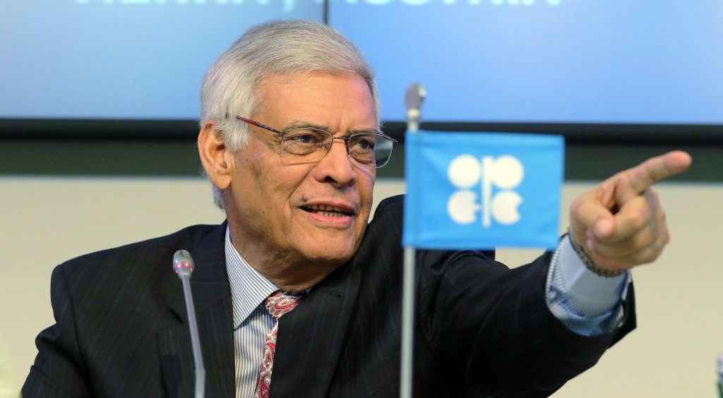 Secretary General of OPEC Abdalla Salem El-Badri of Libya speaks during a news conference after a meeting of the Organization of the Petroleum Exporting Countries, OPEC, at their headquarters in Vienna, Austria, Thursday Nov. 27. (AP Photo/Ronald Zak)