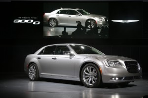 The 2015 Chrysler 300C sedan is introduced at the Los Angeles Auto Show on Wednesday, Nov. 19, 2014 in Los Angeles. (AP Photo/Jae C. Hong)