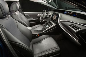The seats inside the 2016 Toyota Mirai are heatable, comfortable and moderately bolstered. (TNS)