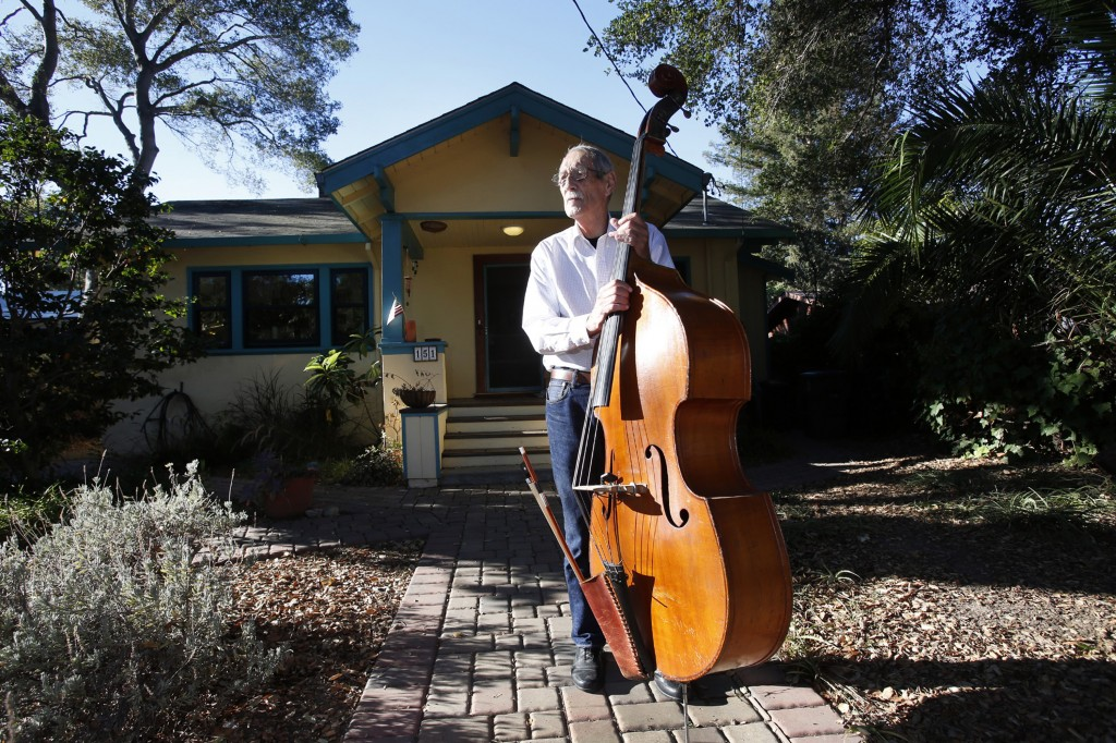 Bassist Ken Plourde, 79, bought his 992-square-foot home in Palo Alto, Calif., for $35,000 in 1970, and has sold it for $3 million. (Karl Mondon/Bay Area News Group/MCT)