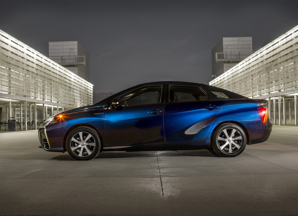 The 2016 Toyota Mirai can travel up to 300 miles on a full tank, and refills in about five minutes. (TNS)