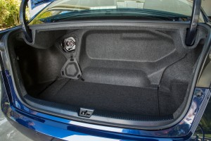 The 2016 Toyota Mirai's trunk loses some space because of the fuel tanks that sit under and behind the rear seats. (TNS)