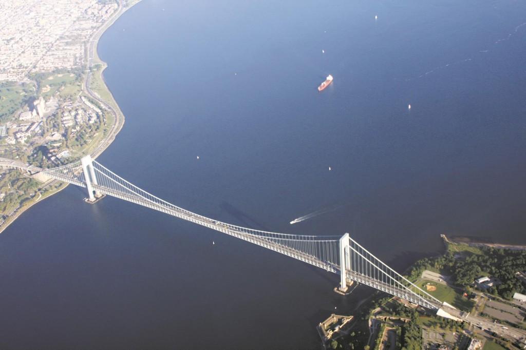 Celebrating on Friday the 50th anniversary of the Verrazano-Narrows Bridge, which links Staten Island.  (MTA/Patrick Cashin)