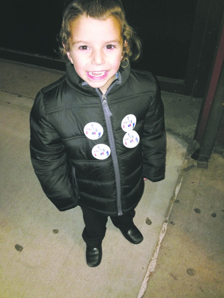 One of the New York area's youngest campaigners.