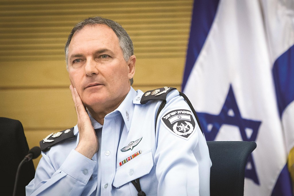 Israeli Chief of Police Yohanan Danino attends a Interior Affairs meeting in the Knesset on Sunday. (Miriam Alster/FLASH90 )