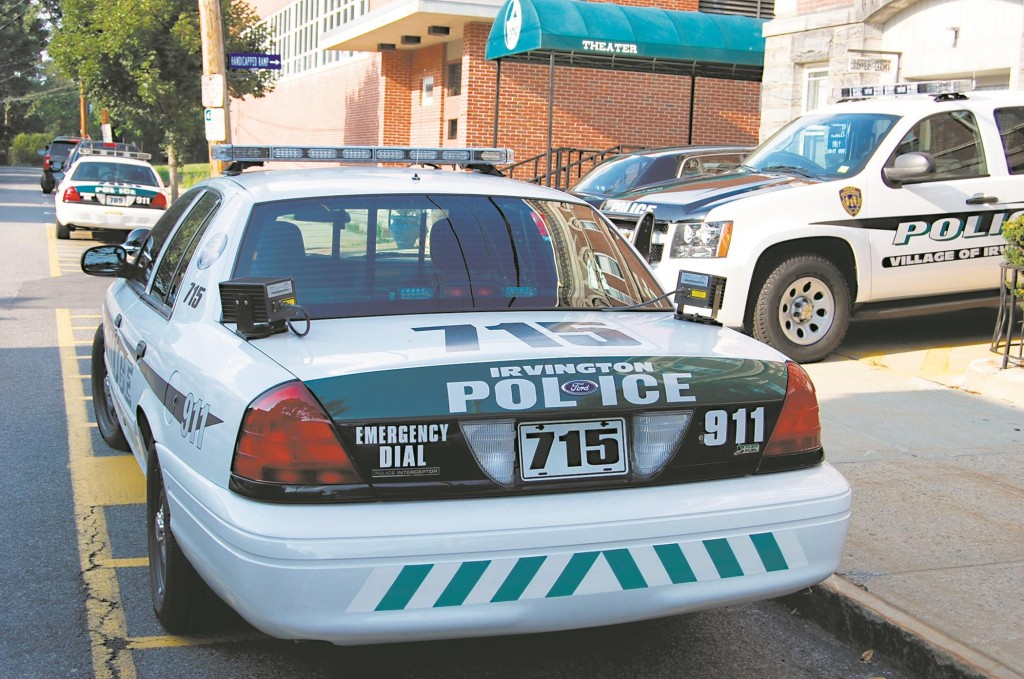 A police cruiser outfitted with license plate readers in Irvington, N.Y.