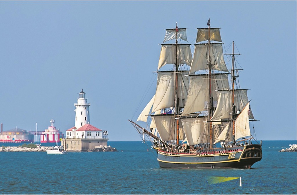 The HMS Bounty, a 180-foot sailboat, which was later submerged in the Atlantic Ocean during Superstorm Sandy in 2012.