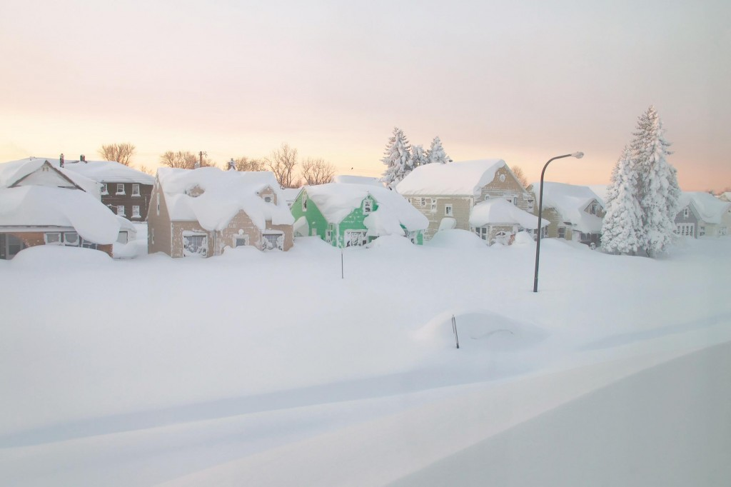 Imagery Wednesday of the snowfall in Buffalo and Lancaster, N.Y. (AP Photo/Gary Wiepert-Carolyn Thompson)