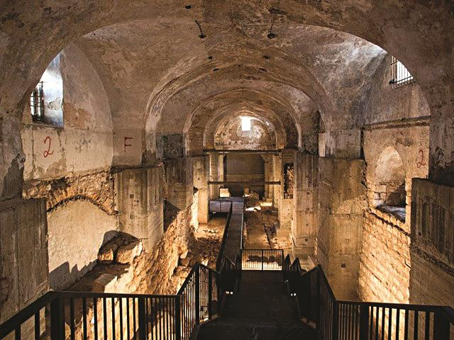 Access to Kishle excavations following renovations. (Oded Antman)