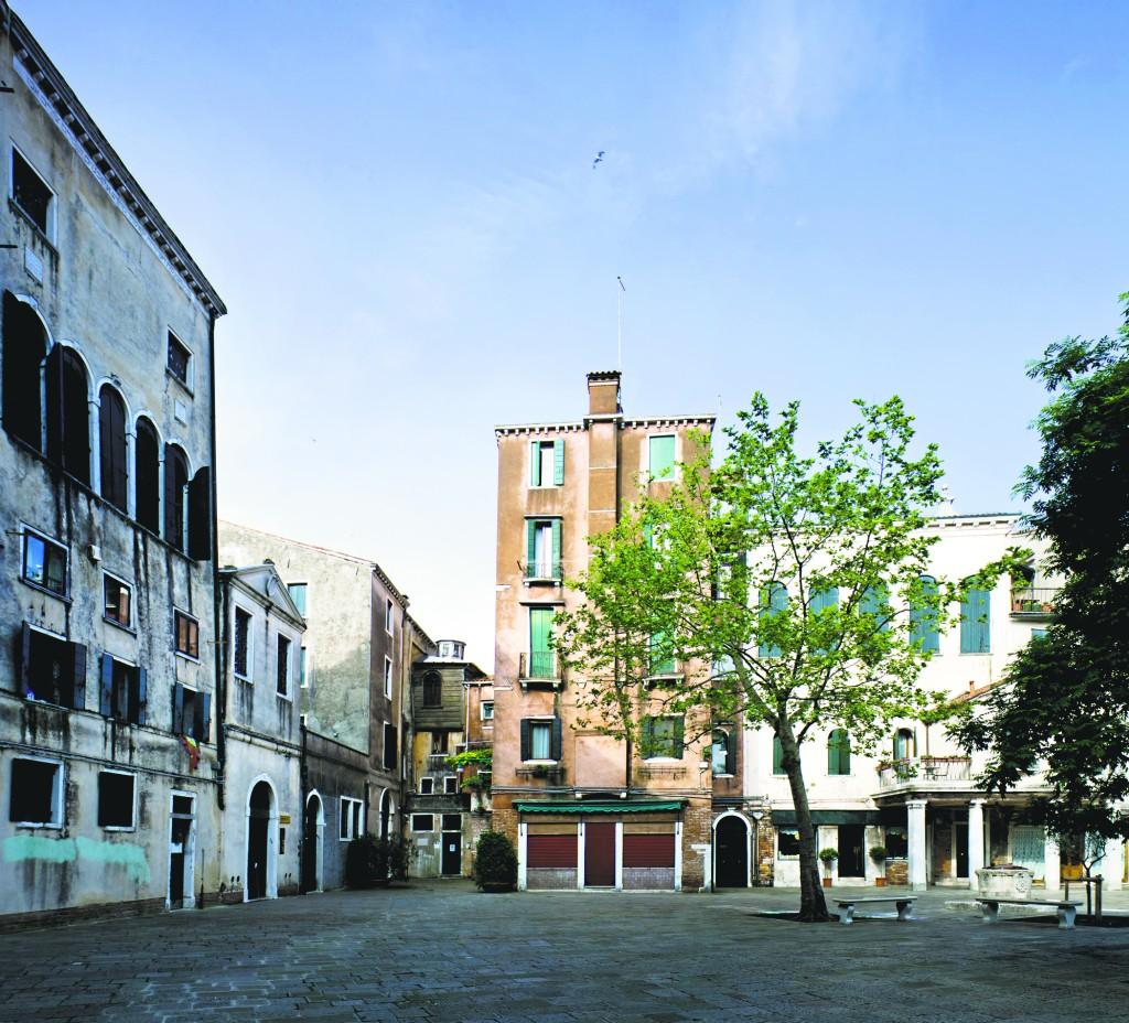 A plaza in the Ghetto.