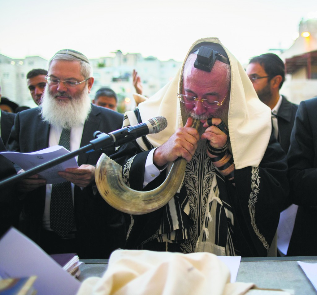 "Harav Shlomo Amar leads a special prayer at the Kosel on Thursday, November 20, in memory of the men who were murdered in the terror attack in the Kehilas Bnei Torah shul, Hy""d. (Yonatan Sindel/Flash90)"