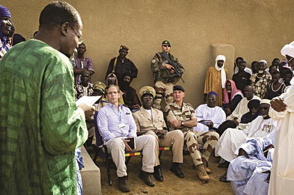 Lawrence J. Franks Jr., back center with gun, is seen working for the French Legion in Mali in 2013 under the pseudonym Christopher Flaherty. (French Legion)