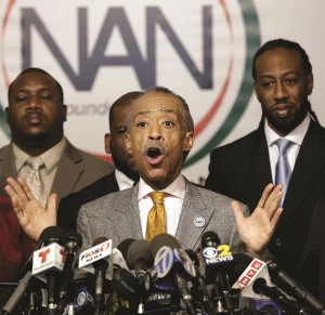 Al Sharpton speaks Thursday. (AP Photo/Seth Wenig)