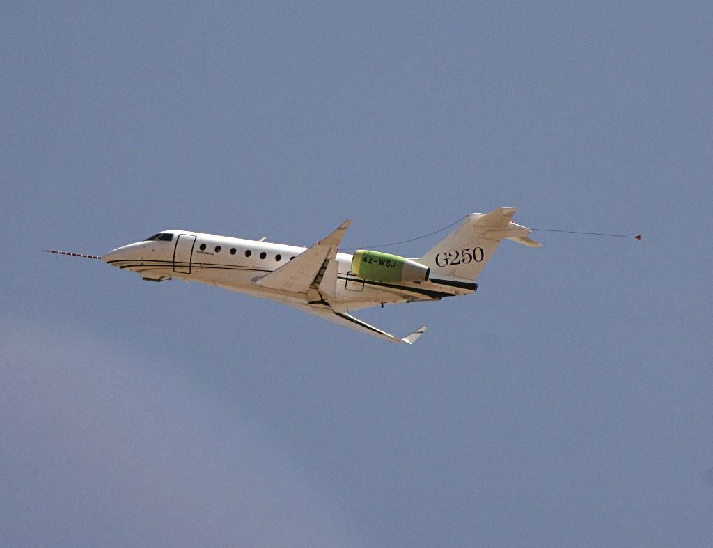 The Gulfstream executive jet.