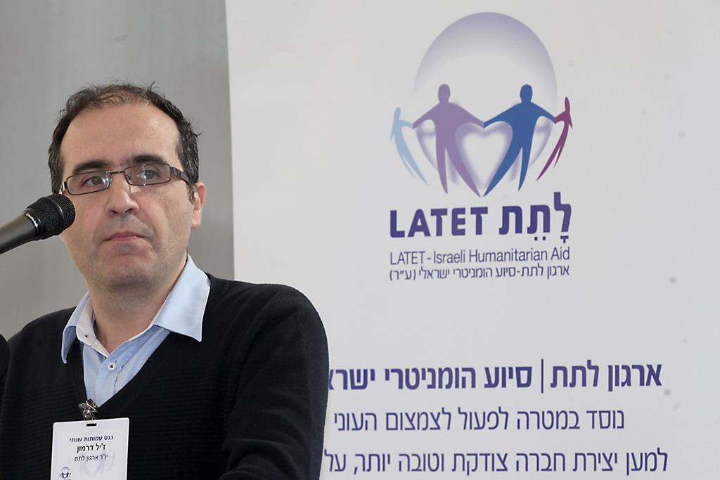 Gilles Darmon, chairman and founder of the Israeli humanitarian NGO, Latet, . (Gideon Markowicz/FLASH90)