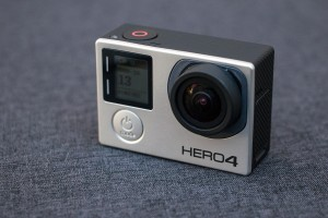 The GoPro HERO 4 Black camera is capable of shooting ultra-high-definition video, also known as 4K video, and has wi-fi and Bluetooth technology built in for communication directly with tablets and smartphones. (AP Photo/Ron Harris)
