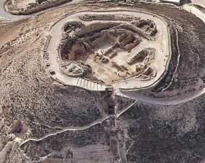 Aerial photo of Herodium complex. (Tatzpit Aerial Photography)