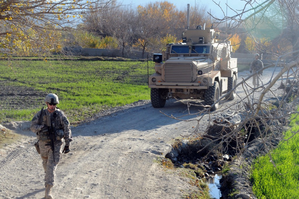 This MRAP terrorist fighting machine in Afghanistan won't be used by traffic police. (The National Guard)