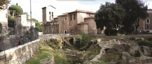 A view of part of the Ghettarello. Homes and other buildings have been excavated here.