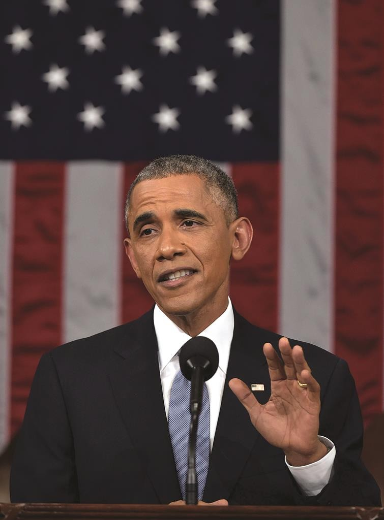 President Barack Obama delivers his State of the Union address to a joint session of Congress on Capitol Hill on Tuesday. (AP Photo/Mandel Ngan, Pool)