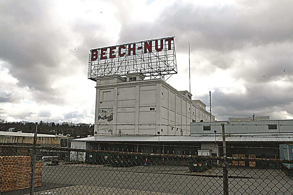 The old Beech-Nut factory along the Thruway's Exit 29.