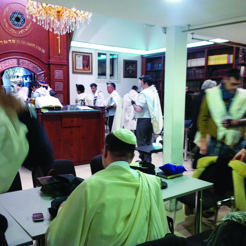 Shacharis at Kehillas Makom Torah.