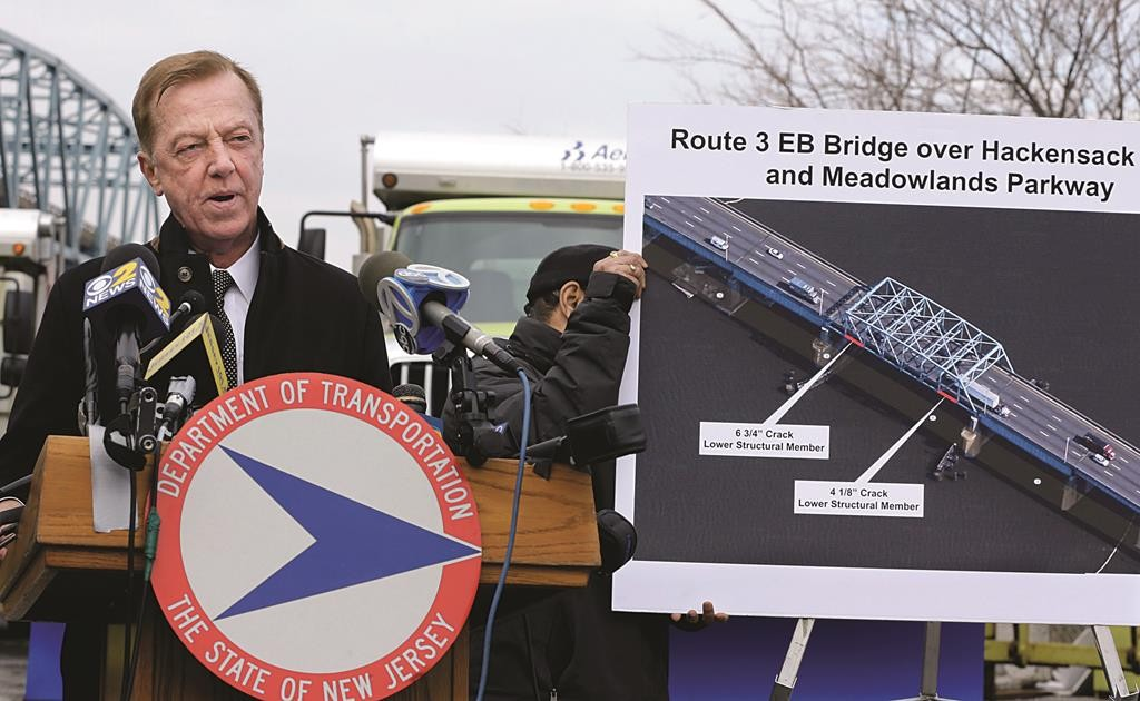 New Jersey Transportation Commissioner Jamie Fox at a news conference Thursday in Secaucus, N.J. (AP Photo/Mel Evans)