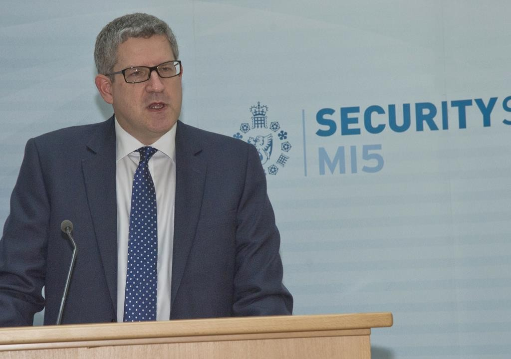 Andrew Parker, the Director General of Britain's domestic security service MI5.  (AP Photo/MI5 Security Service)
