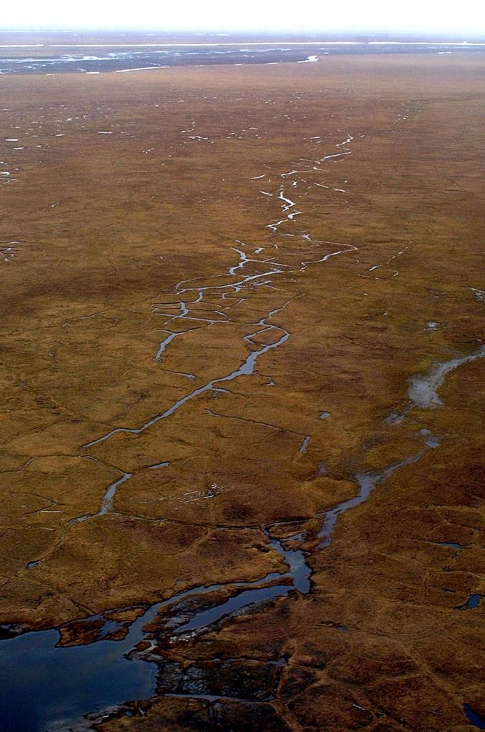 This aerial file photo shows the Coastal Plain of Alaska's Arctic National Wildlife Refuge.  (AP Photo/Al Grillo, File)