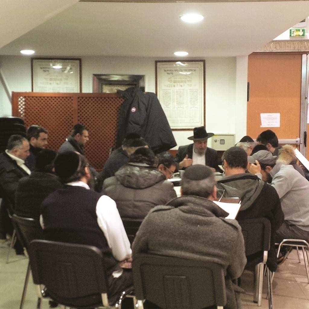 Rabbi David Levi in his shul at shachris and during his daily morning shiur were two of the survivors attend daily