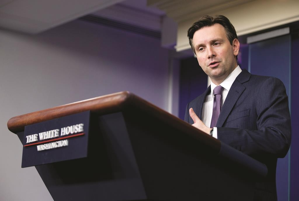 White House press secretary Josh Earnest speaks during the daily news briefing at the White House in Washington. (AP Photo/Carolyn Kaster)