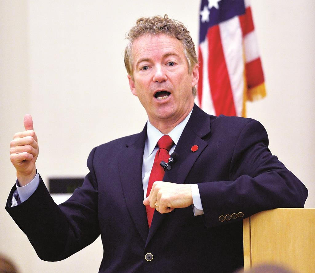 Senator Rand Paul, a Republican from Kentucky, introduced a bill that would cut off U.S. financial assistance to the Palestinian Authority so long as it seeks admission to the International Criminal Court. (AP Photo/Timothy D. Easley)