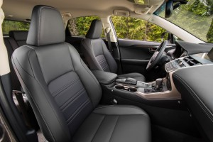 The leather seats inside the 2015 Lexus NX 200t are comfortable but supportive. (TNS)