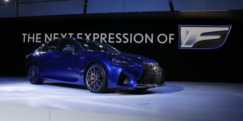 The 2015 Lexus GS F is introduced to the media during the 2015 North American International Auto Show at Cobo Center on Tuesday, Jan. 13, 2015, in Detroit. (Julian H. Gonzalez/Detroit Free Press/TNS)