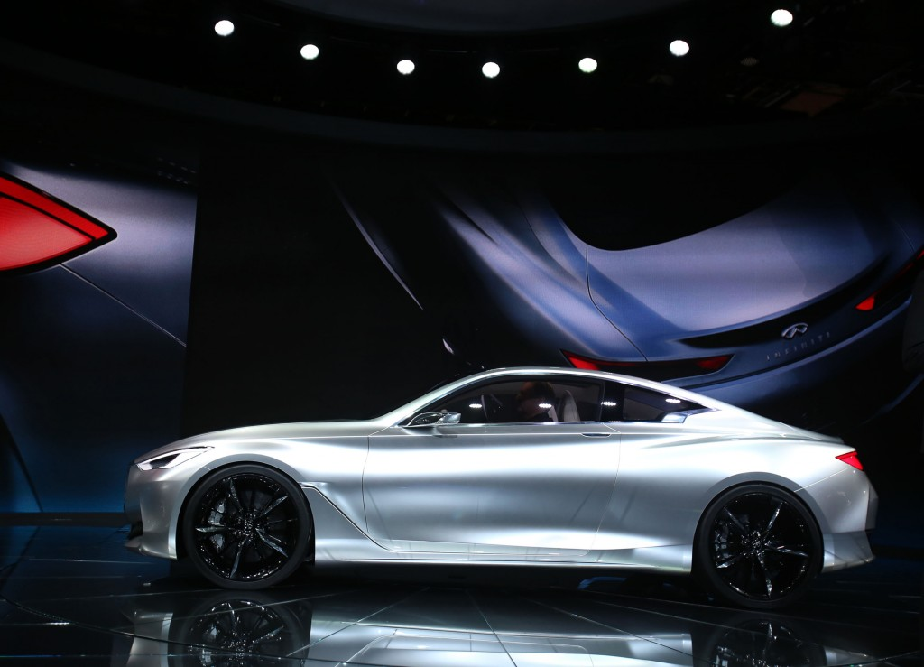 Infiniti reveals its Q60 luxury coupe concept at the 2015 North American International Auto Show at Cobo Center on Tuesday, Jan. 13, 2015, in Detroit. (Regina H. Boone/Detroit Free Press/TNS)