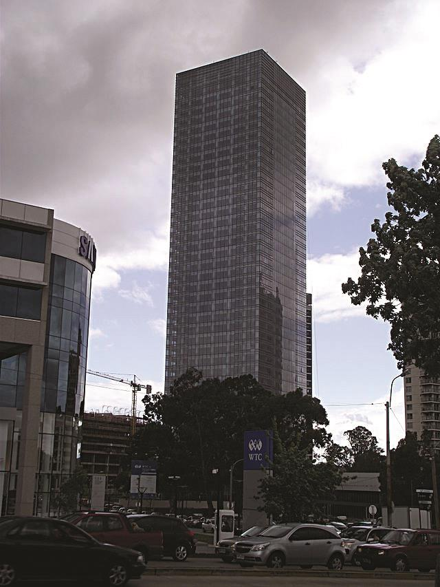 The World Trade Center Montevideo, the second-tallest building in Uruguay, which houses the Israeli embassy.