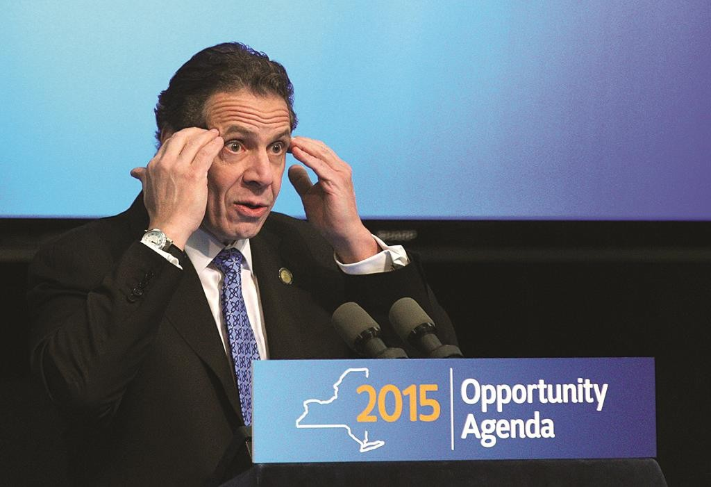 Gov. Andrew Cuomo on Thursday speaks about the Upstate Revitalization Program in Rochester. (AP Photo/Democrat & Chronicle, Jamie Germano)