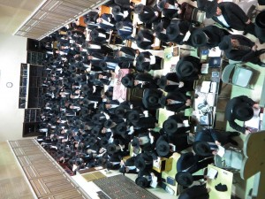 The asifah in Yeshivah Zichron Meilech Thursday night. (TLPIX)