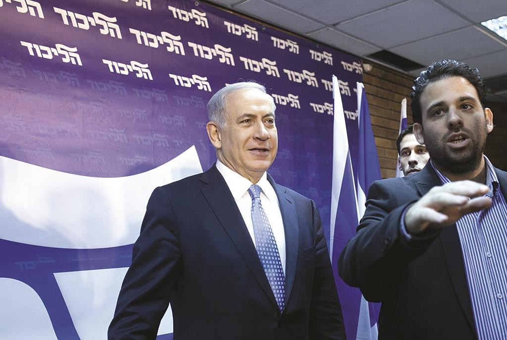 Israeli Prime Minister Binyamin Netanyahu at a press conference in Tel Aviv on Thursday.  (Amir Levy/Flash90)