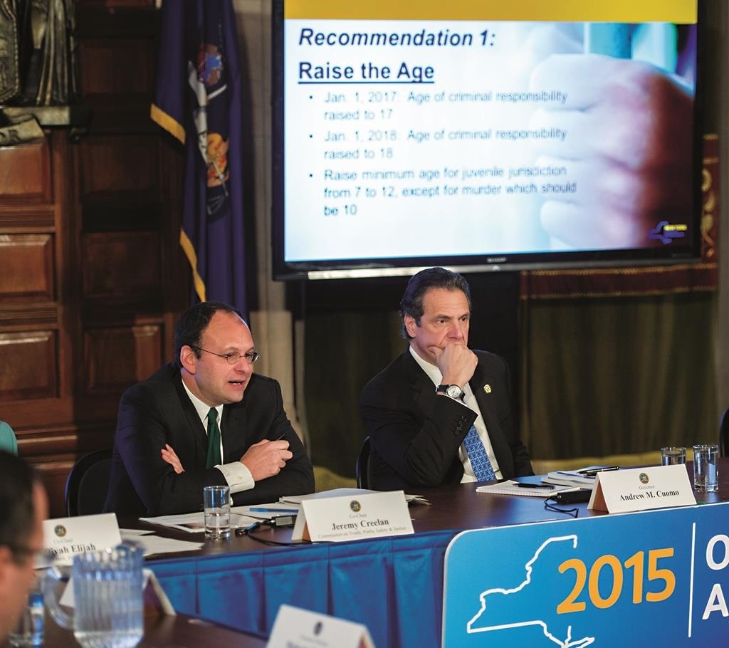 Gov. Andrew Cuomo (R) on Monday accepts proposals from a panel on juvenile offenders. (Office of the Governor)