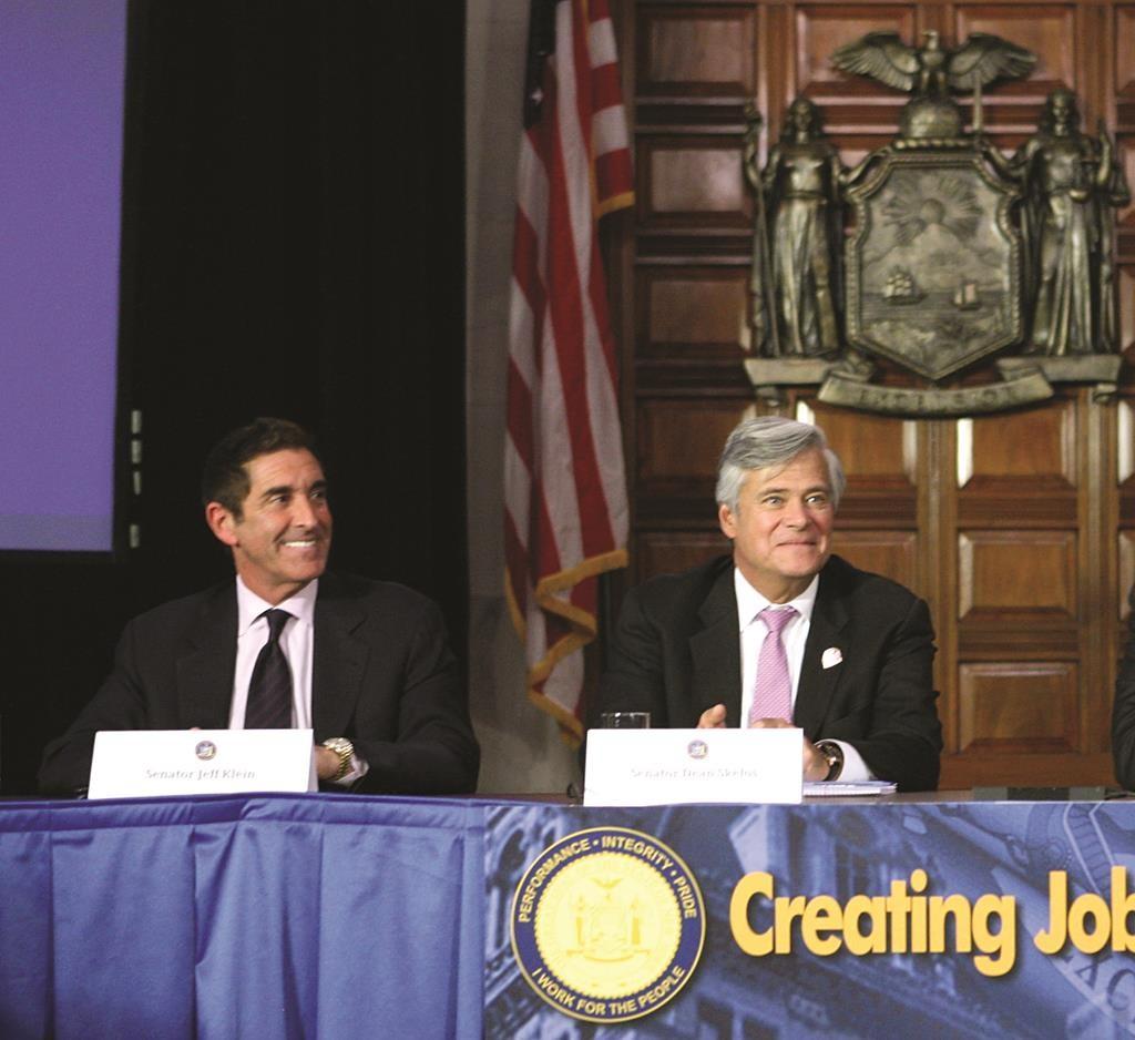 Independent Democratic Conference leader Sen. Jeff Klein (L) and State Senate Majority Leader Dean Skelos.