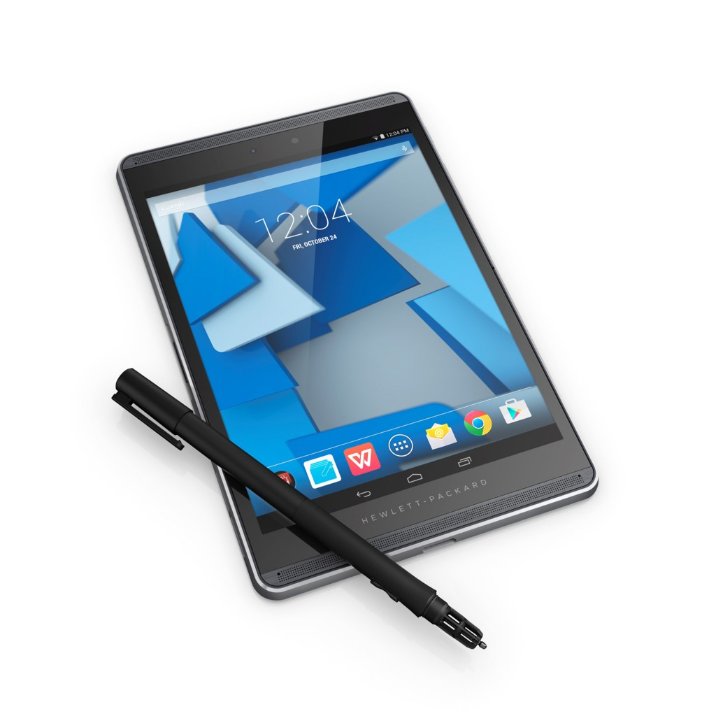Hewlett-Packard unveiled eight new tablets and related produces Tuesday, aimed at professionals, including the Hewlett-Packard Pro Slate. (HP)