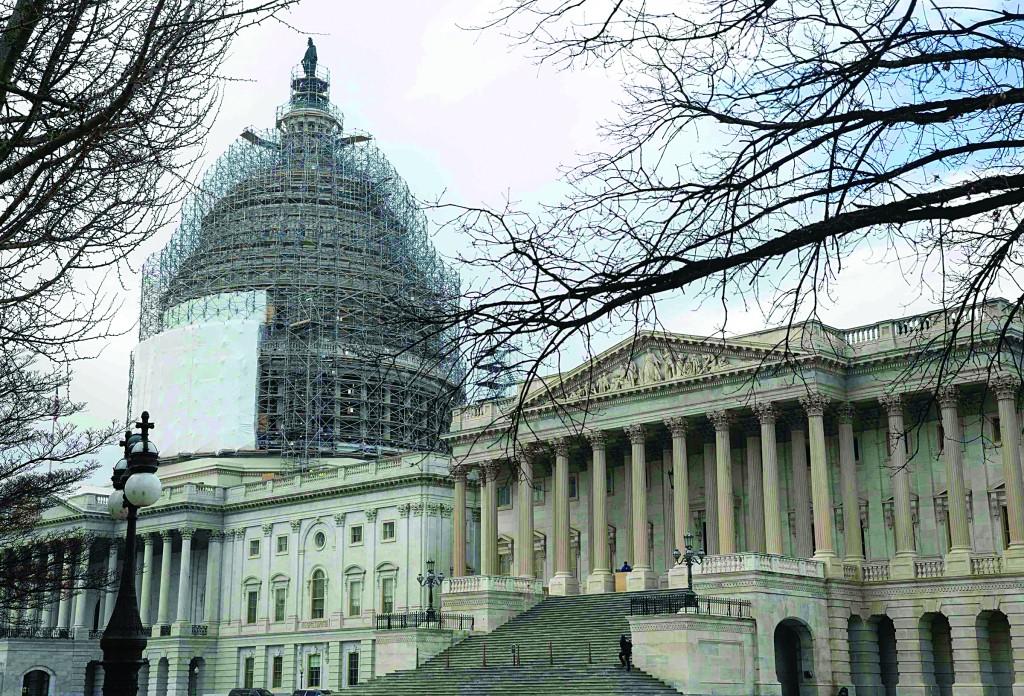 The U.S. Capitol in Washington on Tuesday, Jan. 20.  (REUTERS/Joshua Roberts)