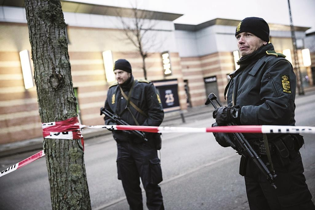 Near the site of the shooting in Copenhagen on February 15, 2015. (CLAUS BJORN LARSEN/AFP/Getty Images)
