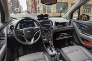 The 2015 Chevrolet Trax features 15 unique storage options, rear and passenger fold down seats, and technologies including 4G LTE and MyLink's 7-inch touchscreen and Siri Eyes Free compatibility. (TNS)