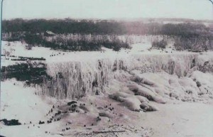 Niagara Falls the last time it completely froze over — in 1936.