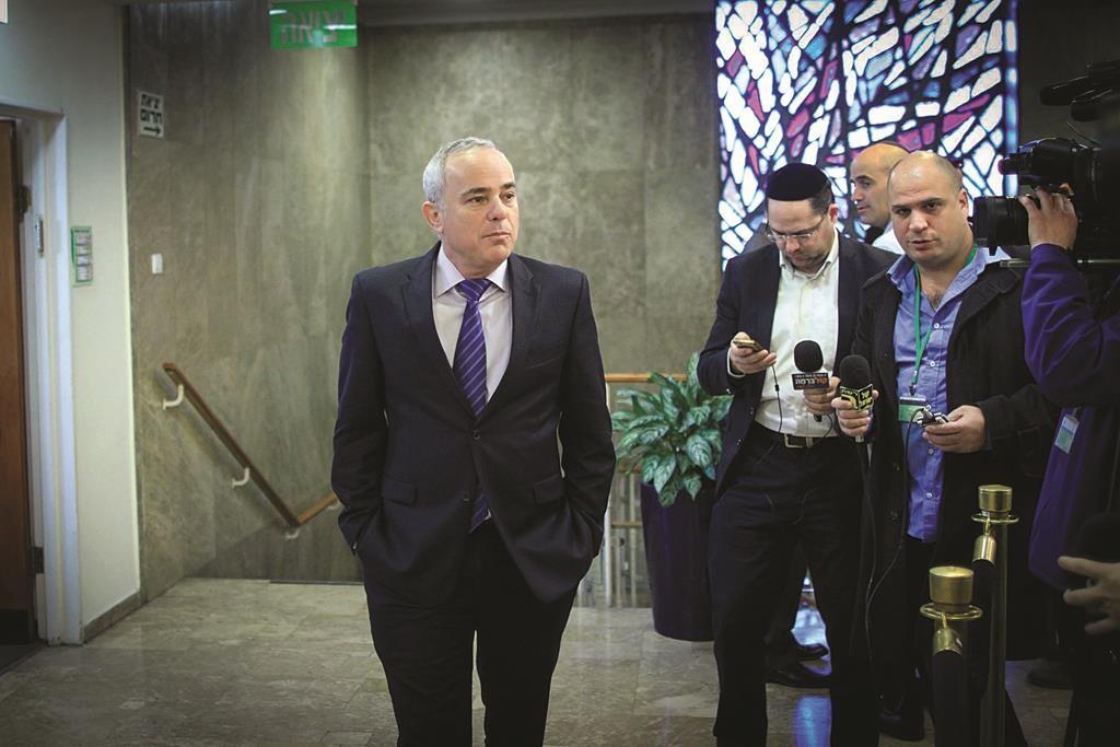 Israeli Strategic Affairs Minister Yuval Steinitz. (Alex Kolomoisky/POOL)